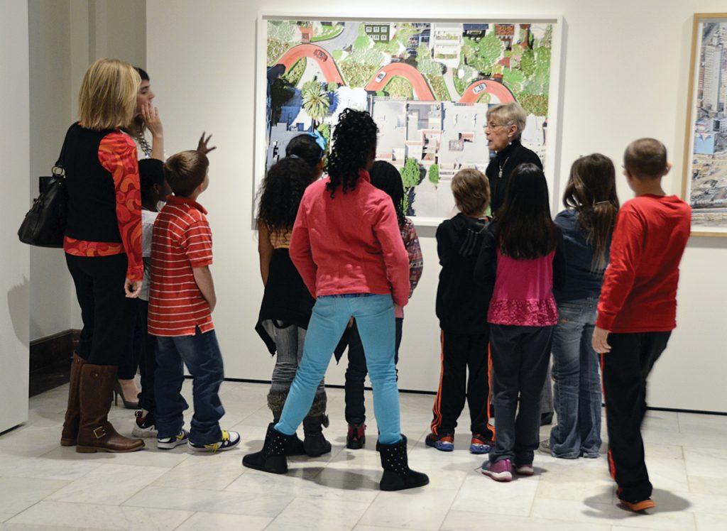 Cincinnati Art Museum docent Joanna Hobler with students from Sharpsburg School