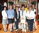 Honorary committee: (front) Kentucky Supreme Court Justice Michelle Keller, PNC president Kay Geiger, Leadership Kentucky president Janice Way, JPM founder Jennifer Proud Mearns, and Cincinnati/Northern Kentucky International Airport president/CEO Candace McGraw; (back) Women's Fund of Greater Cincinnati executive director Meghan Cummings, YWCA president/CEO Barbara Perez, YMCA president/CEO Sandy Walker and keynote speaker Betsy Myers