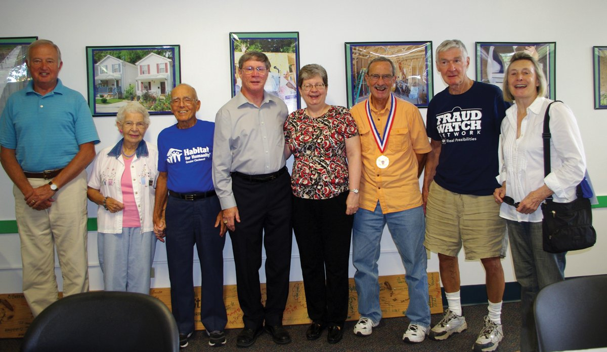 Ken Clark, Audrey Barbian, Dick Barbian, Lin Weikert, Mary Weikert, Dick Mushaben, Michael Flynn and Janine Gauthier