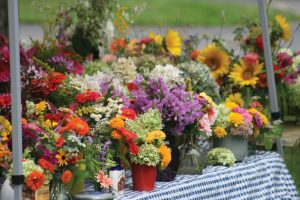 The market features heirloom flowers and bulbs.