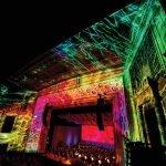 The light show inside the Taft Theater