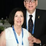 Dick Friedman, chair of the Cincinnati Tennis Hall of Fame, and wife Gail Friedman
