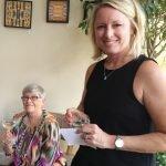 Carol Aquino and Carolyn Micheli at the Marketing Cabinet retirement party