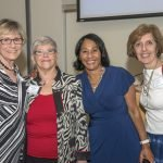 Karen Bell of the Marketing Cabinet, Carol Aquino, UWGC executive vice president and COO Yvonne Washington and Carol Shea of the Marketing Cabinet