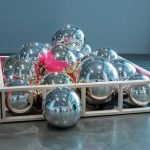 "The Carnegie: Jonathan Capps (Ohio State University), ""Play Pen,"" blown and mirrored glass, wood and paint, 2012"