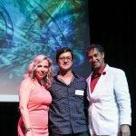 Litsa Spanos, ADC president and founder of Art Comes Alive; Nicholas Yust, award-winning artist; Paul Darwish of Graydon Head