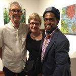 Mark Patsfall, Mary Heider and aeqai board chair Cedric Michael Cox
