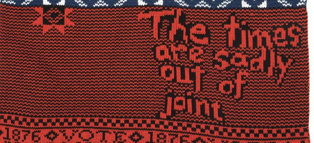 Lisa Anne Auerbach, Hayes/ Tilden 1876 Campaign Sweater (detail) wool, 2008
