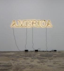 Glenn Ligon, Double America 2, 2014