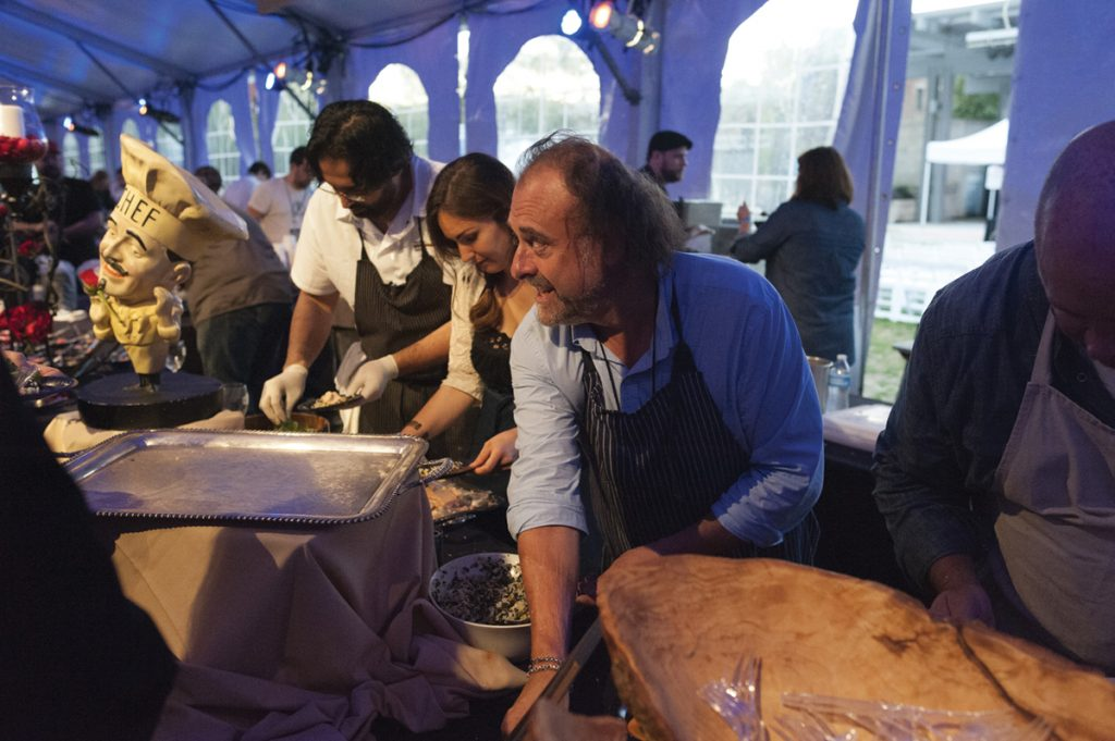Chef Jean-Robert de Cavel (foreground) and others at the Food + Wine Classic in 2015