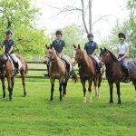 Pony Clubbers Christina Shannon, Gabrielle Salvado, Leonore Salvado, Mary Gruber, Anna Karnes and Hailey Magenheim