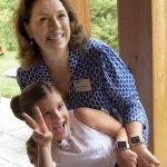 """JDRF Southwest Ohio board president Susan Van Buren Mustian, with her new """"diabestie,"""" Olivia"""