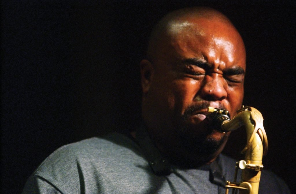 Tenor saxophonist Eddie Bayard, one of the subjects of Grier's exhibit at the Kennedy Heights Arts Center
