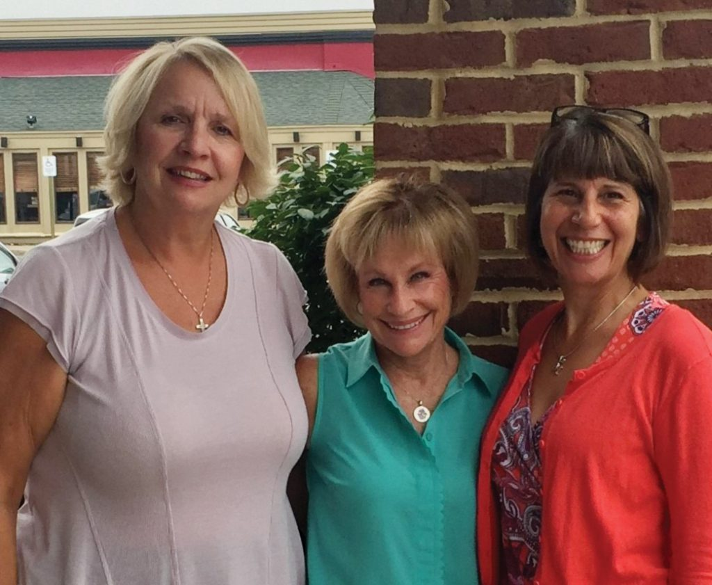 Debbie Geiger, event chair, with Susie Stierer, Ohio Valley Voices board member, and Maria Sentelik, OVV executive director
