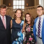 Event hosts Michael Cioffi and Rachael Rowe with Jill and Matt Garretson
