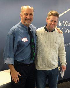 PWC president Jock Pitts and Steve McNamee, PWC employee of the year