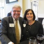 Stanley Aronoff and Pro Seniors board president Christine Buttress