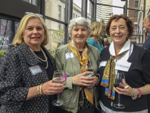 Amelia Crutcher, gala board co-chair emeritus; Ruth Cronenbeg of PWC; and board member Marj Hull