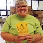 Gladys, a Redwood client for 29 years, sold 40 raffle tickets for the 2015 event.