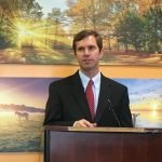 Ky. Attorney General Andy Beshear with Jim Beiting, CEO of Transitions