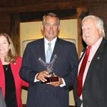 Lynda O'Connor, Spirit of Scouting and Fort Hamilton District chair, John Boehner and Don Crain