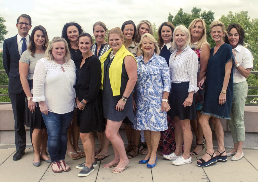Gala committee: (front) Kristen Sekowski, Kate Nelson, Liz Dohrmann, Barbara Weyand and Marty Ragland; (back) Cameron Kitchin, Jacqueline Reeves, Ruth Kelly, Tracy Hartmann, Lindsey Huttenbauer, Deb Schaefer, Maya LaLonde, Sherie Marek, Dawn Schiff and Mady Gordon