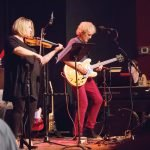 Chamber Rock at The Redmoor: CCO acting concertmaster Amy Kiradjieff and Roger Klug on guitar Photo by Mikki Schaffner