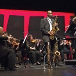 Saxophone Fusion: James Carter II on saxophone, Sarah Ioannides conducting Photo by Phil Groshong