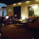 "Bromwell's Harth Lounge provided the intimate setting for ""Whiskey With Wolfgang."" Photo by Mikki Schaffner"