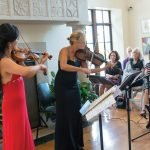 "At Chee-Yun & Friends: Violinist Chee-Yun and CCO principal viola Heidi Yenney during ""Rhythmic Strings"" at Greenacres Arts Center, curated by Christopher Zimmerman Photo is by Mikki Schaffner."