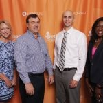 Linda Robinson, Michael McCormick, Kris Karwisch and Dwinelva Zachary of St. Elizabeth Healthcare