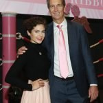 Honoree Calysta Bevier and Cris Collinsworth