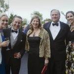 Jennifer Neumann, development director Kirby Neumann, trustee Cheryl Rose, Jeff Chapman and assistant registrar Jennifer Linnenberg