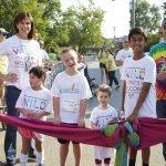 Jane Portman and Michael Fisher, Cincinnati Children's president and CEO, with children