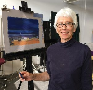 Artist Susan Pichler in her studio