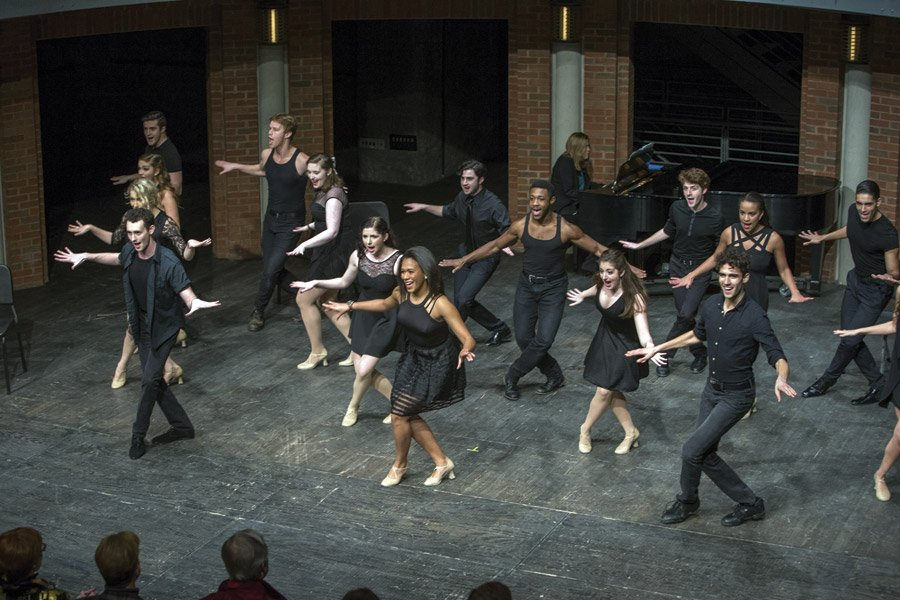 Musical theater performance by CCM students at a previous Moveable Feast