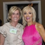 Sandy Heimann and emcee Liz Bonis