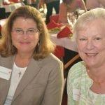 Karen O'Maley and LADD board member Alison Zimmerman