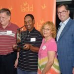 David Conroy, honoree Dale Jackson, Vicky Love and LADD board member Rob Jung