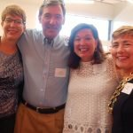 Cook_Concannon_Dunning_Wilson ProKids executive director Tracy Cook, with John Concannon, volunteer Sarah Dunning and board member Julie Wilson