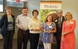 ProKids Executive Director Tracy Cook, honorees Cliff Mentrup, Ann Wong and Donna Salmon, board president Tom Cuni and ProKids CASA program director Charlotte Caples