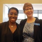 Kennedy Heights Arts Center events and marketing manager Dominique Springs, with ProKids executive director Tracy Cook