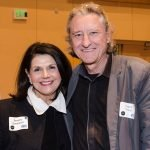 SVDP board member Beverly Davenport, senior vice president for academic affairs and provost at UC, with Robert Probst, director of the School of Design at UC