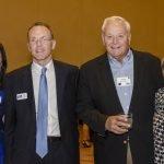 Becky Catino, St. Vincent de Paul executive director Mike Dunn, Robert Gramann and Carol Gramann