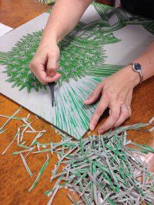 Tiger Lily Press linocut
