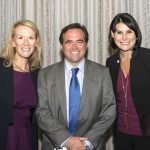 Jill Meyer, CEO of the Cincinnati USA Regional Chamber; Mayor John Cranley; and REDI Cincinnati CEO Johnna Reeder