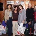 Alena O'Donnell, DfSC; Erica Potzick, former DfSC client; Kelly Hollatz, board member and event organizer/hostess; stylist Logan Bailey; Anita Minturn, DfSC board chair