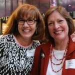 Steering committee member Maureen Vignola and Louise Cottrell