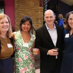 Steering committee member Jenny Powell, event co-chair Nirvani Head, Playhouse artistic director Blake Robison and Jan Portman