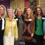 Jamie Humes, program co-chair Marty Humes, Jan Bartel, Claire Patterson, Carolyn Heck and Mandy Bartel